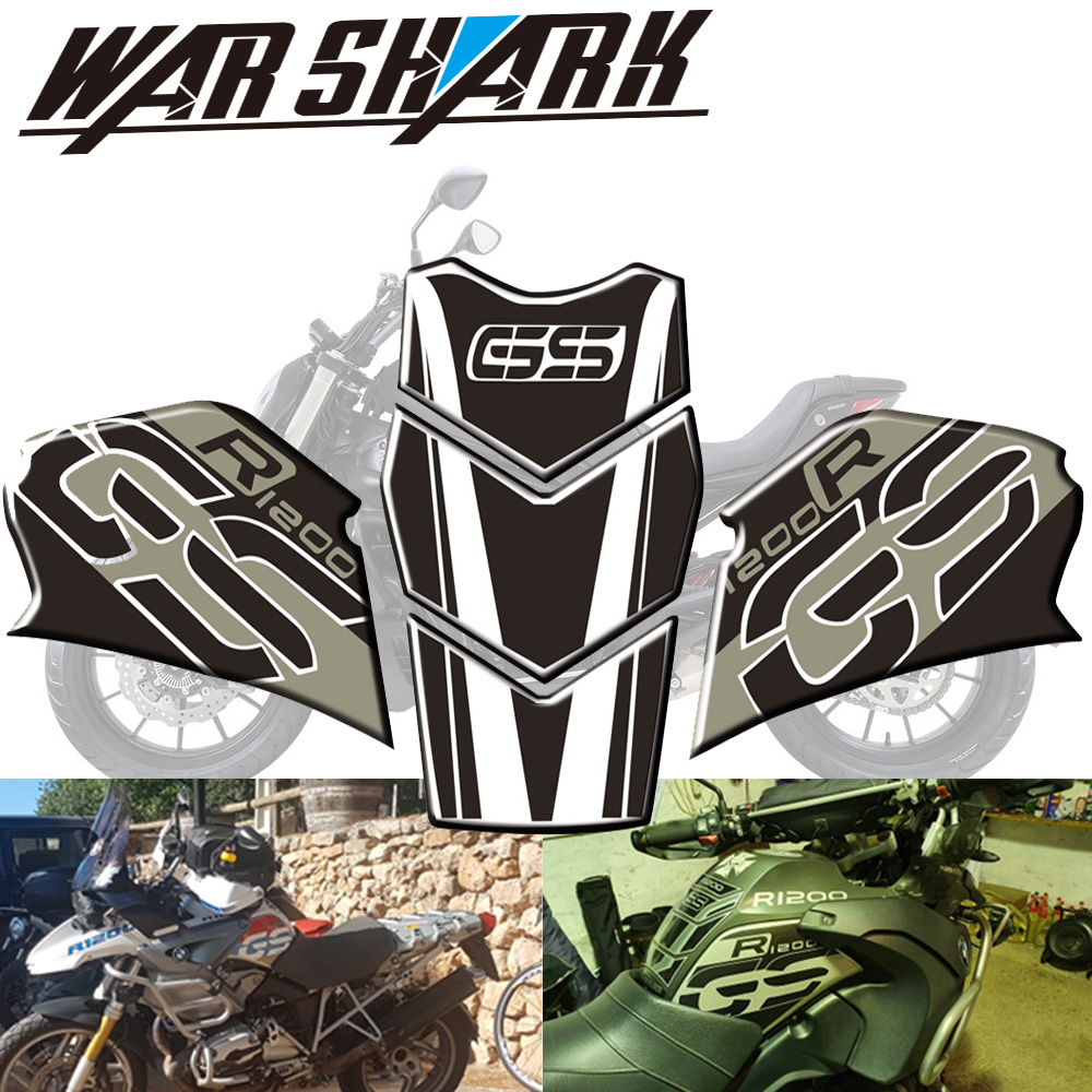 For BMW R1200GS Adventure R 1200 GS  2005 -12  New Type Of Color Paste Motorcycle Anti Slip Tank Pad Sticker Protective Stickers