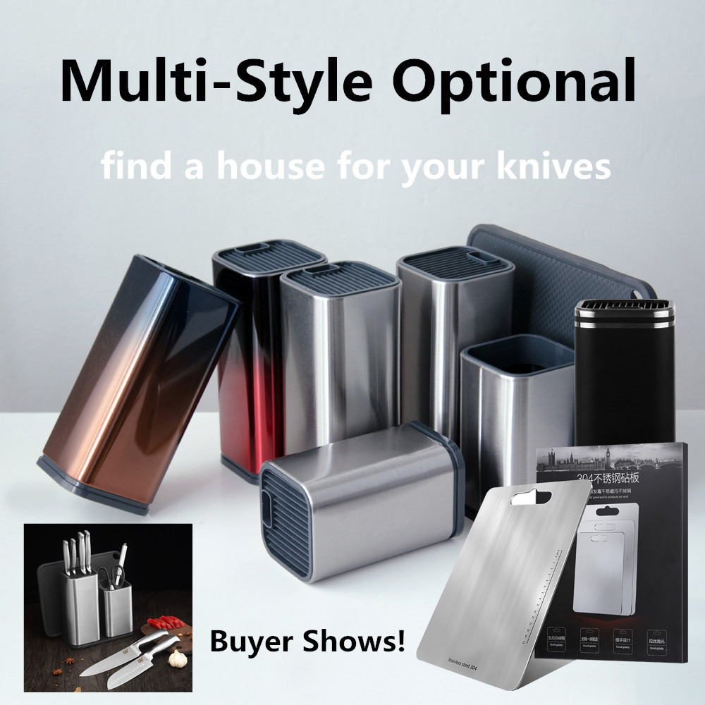Xyj-Cutlery-Kitchen-Knife-Holder-Storage-Supplies-Stainless-Steel-Knife-Block-Stand-Large-Capacity-Multifunctional-Storage副本