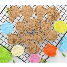 Demon Slayer Mold-Figures Cookie-Cutter Tanjiro Toys Gift Thanksgiving 6pcs/Set Baking-Tools
