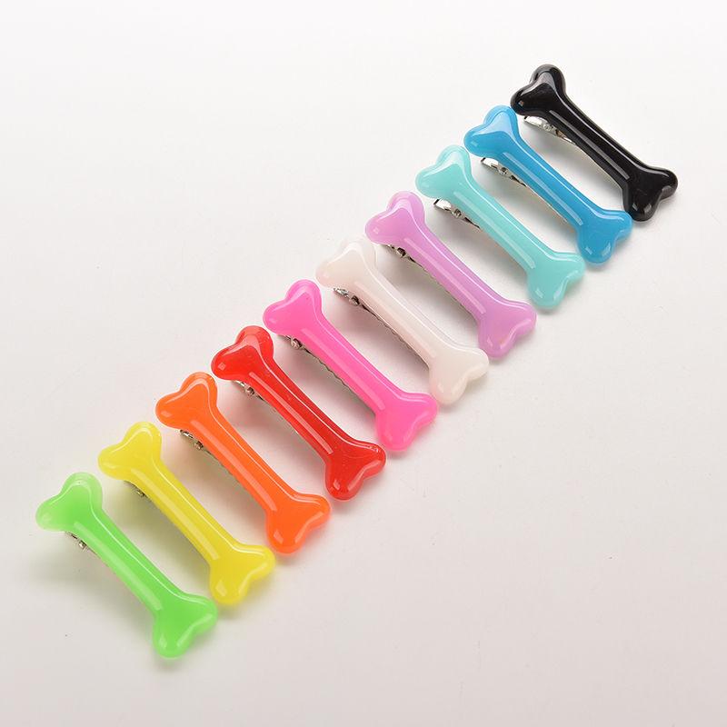 1pair Colorful  Vivid Dog Bone Hair Clips Side Hairpin Headwear Barrettes Hair Band  Free Shipping