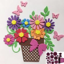 Cutting-Dies Craft Stencil Scrapbooking-Decor Clear-Stamps Flowers Embossing Greeting-Card-Making