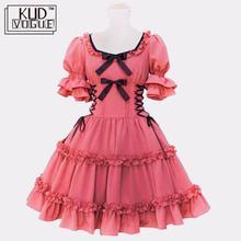 Женское розовое хлопковое платье принцессы Алисы в стиле Лолиты, костюм размера плюс, готическое платье лоли, милое многослойное платье горничной 5XL, распродажа