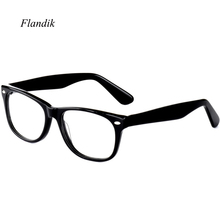Acetate Glasses Frame Unisex Square Prescription Eyeglasses 2019  Men Women Myopia Optical Spectacle Frames