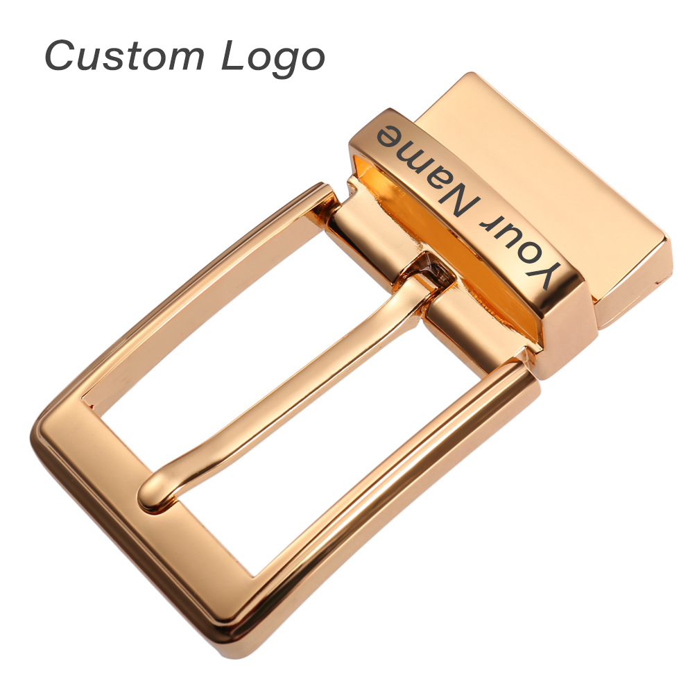 Personalized Pin Leather Belt Buckle Custom Engraved Name Logo Mens Belt Head Zinc Alloy Waistband Buckles Needle Belt Heads