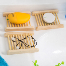 1PC New Useful Natural Wood Soap Tray Dish Storage Holder Storage Soap Rack Plate Box for Bath Shower Home Storage Rack simple creativity square soap box storage rack