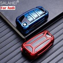 Novo tpu caso capa chave do carro escudo para audi a1 a3 a4 a5 q7 a6 c5 c6 tt q3 q7 s3 anti-gota suporte de proteção do carro-estilo acessórios