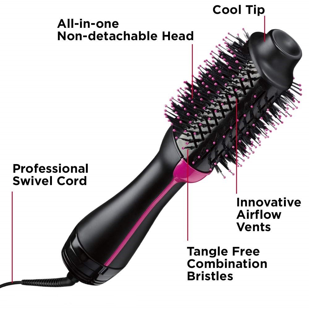 Leata One Step Hair Dryer & Volumizer Hot Air Brush