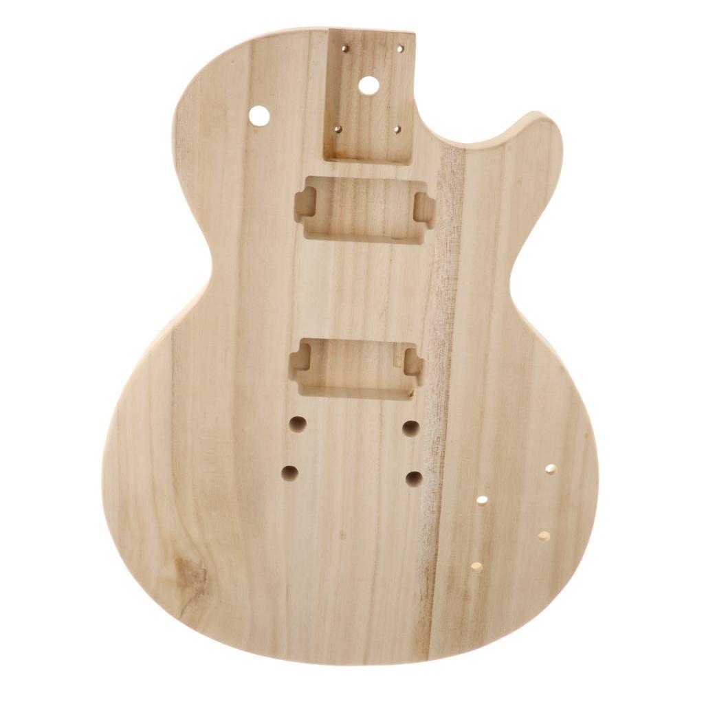 Fino inacabado corpo da guitarra barril em branco maple madeira se encaixa st guitarra elétrica
