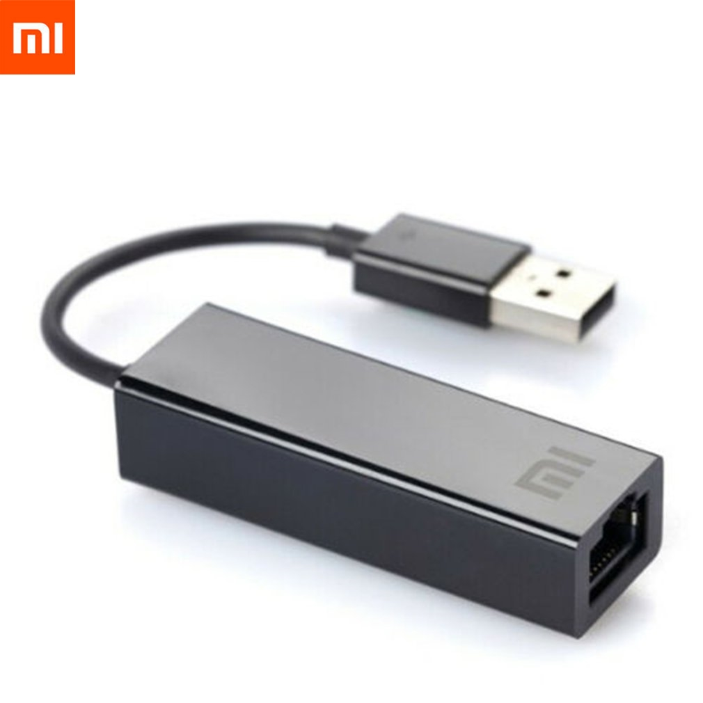 Original Xiaomi Usb Para Placa Ethernet Lan Adaptador Externo 10 Rj45/100 Mbps Para Xiaomi Tv Box 3 Pro 3S Laptop Mac os Pc Inteligente