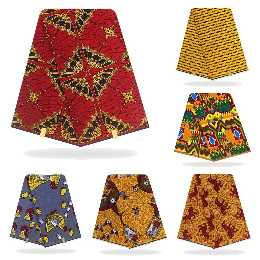 African Fabric Wax Print Ankara 6yard  Wax Ankara  Real Ankara 100% Cotton