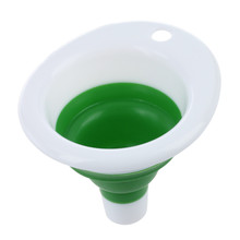 Mini Portable Collapsible Gel Retractable Funnel Hopper for Kitchen Home Garden(China)