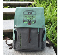 Boku no My Hero Academia Izuku Midoriya Green High Capacity Canvas Laptop Backpack School Bag Travel Cosplay Costume Prop