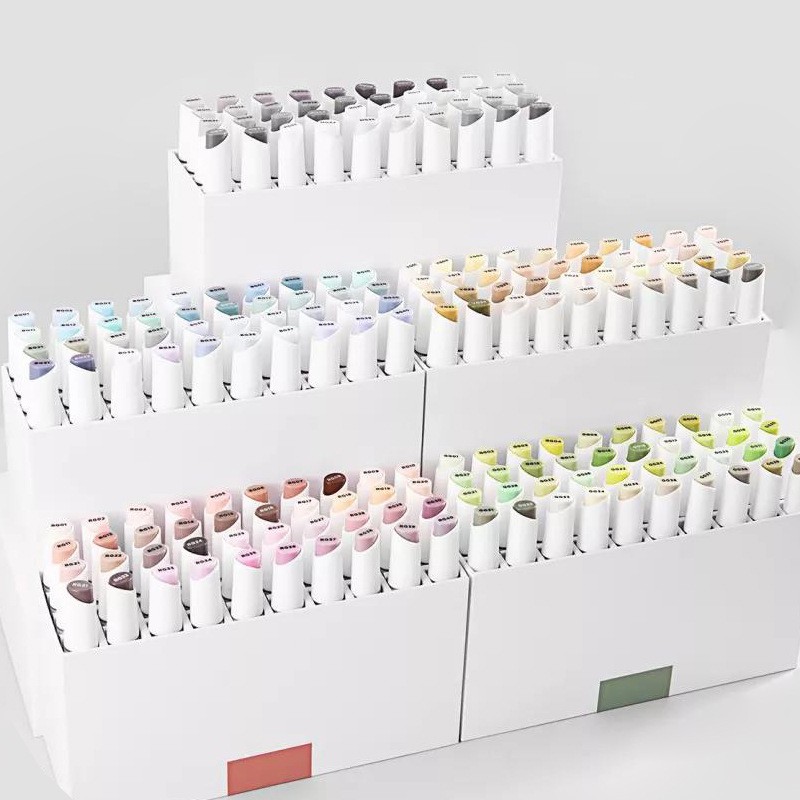 Double-head Alcohol Marker Pen 40 Color /set Professional Painting Anime Design Color Marker Pen Grey Series