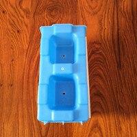 40 cm/15.74in plástico fácil economia barata rápida construção cimento oco/concreto pavimentação bloqueio tijolo/bloco molde