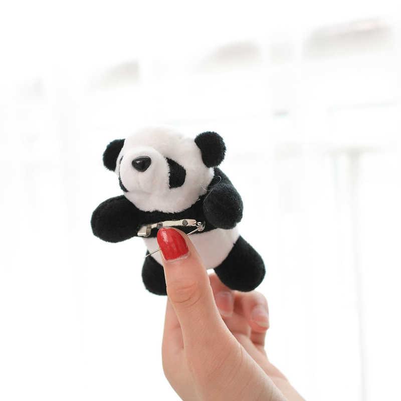 かわいいパンダぬいぐるみブローチヘアピンガールギフトホームデコレーション子供ギフト安いおもちゃ