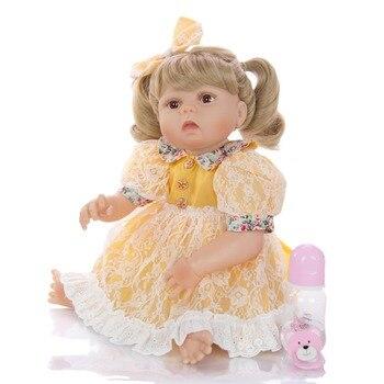 57CM bebes reborn newborn baby girl doll in tan skin full body silicone real lol dolls Bath toy child Xmas Gfit