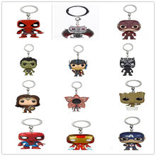 Chaveiro pop loki/aranha/deadpool/ironman/flecha, peça única, stranger things, 2020 bolso rick e morty(China)