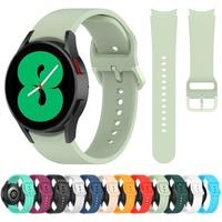 Cinturino in Silicone per Samsung Galaxy Watch4 classic 46mm 42mm/Galaxy Watch 4 44mm 40mm cinturino sportivo braccialetti di ricambio fibbia 1:1