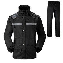 Raincoat Rain Pants Suit Thick Double Waterproof Motorcycle Jacket Poncho Large Size Fishing Rainwear Man And Woman
