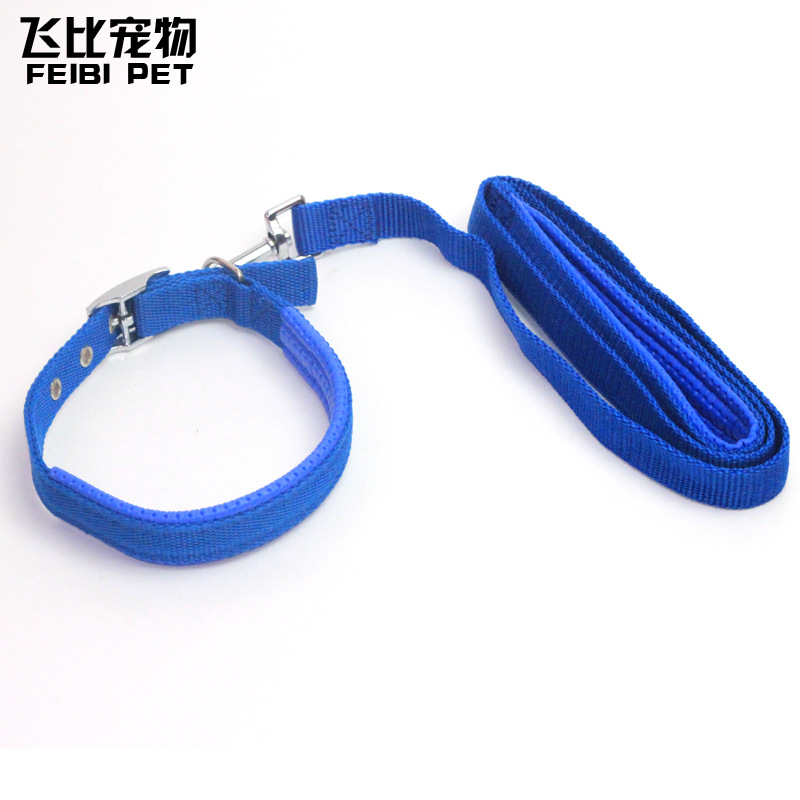 Pet Dog Chain Dog Golden Retriever Dog Large Wiring Sleeve Neck Lanyard Teddy Lanyard Sub-Traction Dogs Retractable Dog Universa