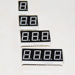 """20 шт. 0,56 дюймовый цифровой светодиод Дисплей Ассорти цифровой модуль цифра семь сегментных трубки 1 2 3 4 цифры 0,56 """"красный 7 сегментный"""