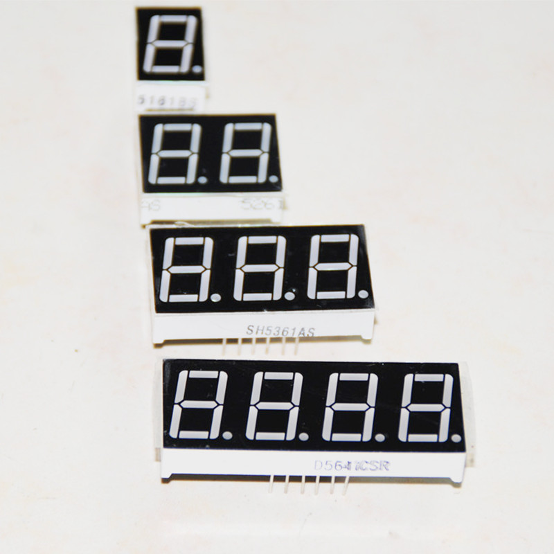 20pcs 0.56inch Digit LED Display Assorted Digital Module Digit Seven Segment Tube 1 2 3 4 Digits 0.56