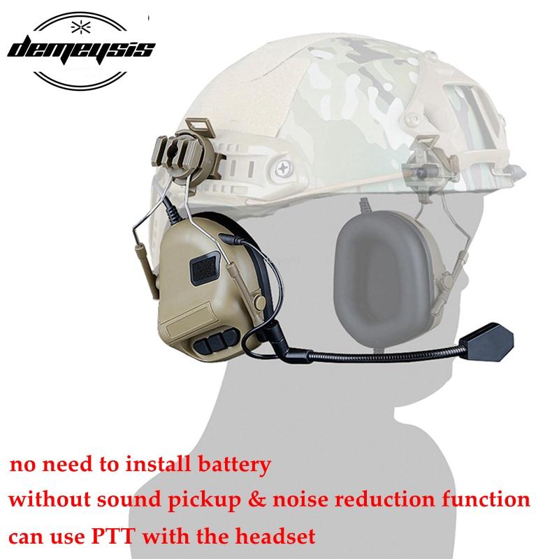Тактическая гарнитура для шлема с быстрым адаптером для шлема, военная гарнитура для страйкбола и фотосъемки на открытом воздухе-5