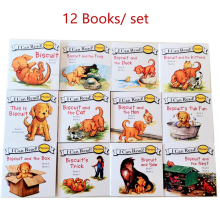 цена на 12 books/set Biscuit Series Phonics English Picture Books I Can Read Children Story Book Early Education Pocket Reading Book