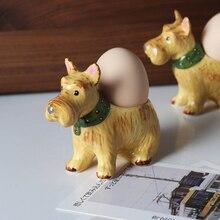 Egg Cup Breakfast Egg Tray Ceramic Egg Rack Creative Dog Egg Seat Table Decoration