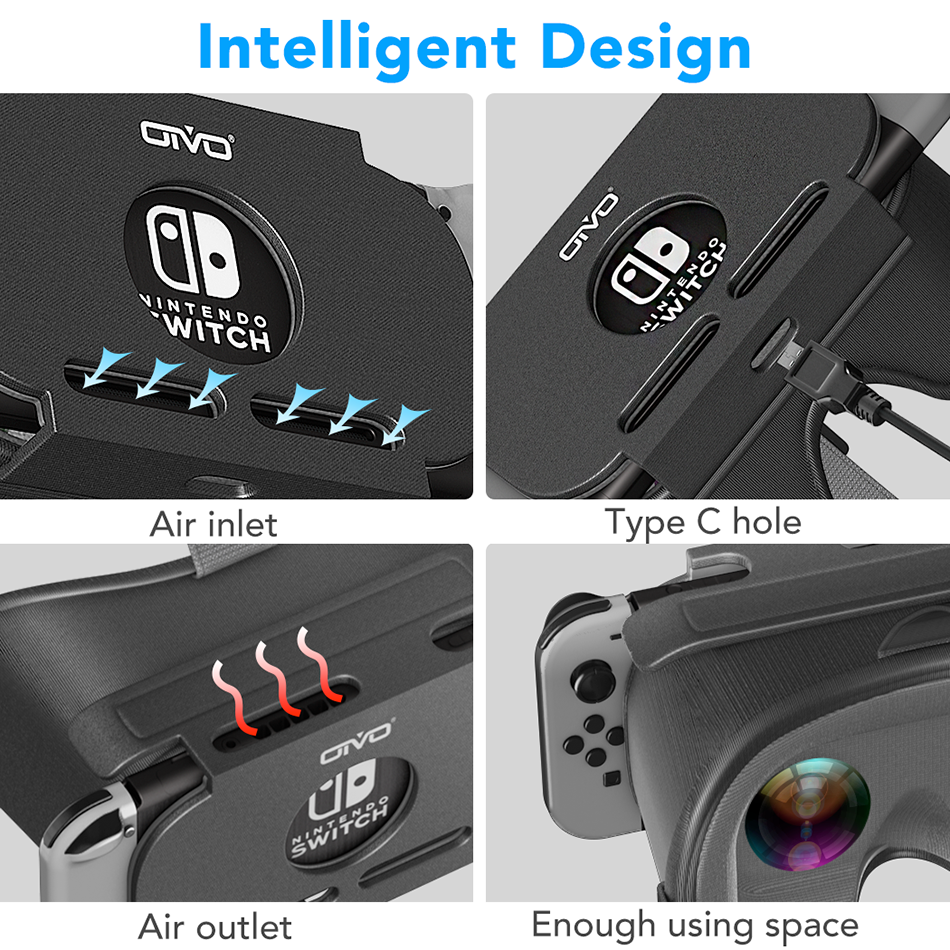 OIVO Switch VR Headset for Nintend Switch LABO VR Big lens Virtual Reality Movies Switch Game 3D VR Glasses for Odyssey Games 3