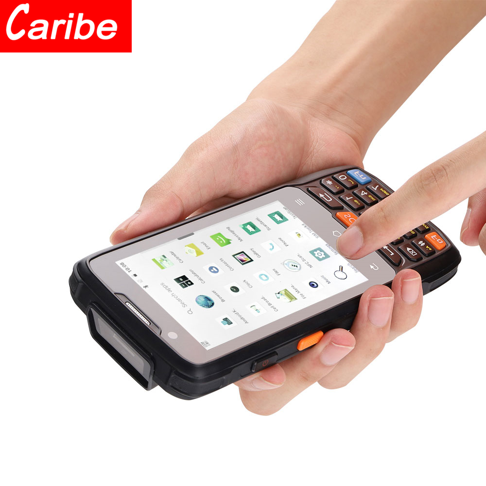 Карманный КПК-сканер штрих-кода на Android 8,1 для Логистического Склада, сенсорный экран 4,0 дюйма, Считыватель RFID NFC
