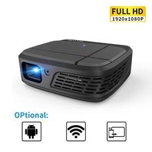 Portatile smart Home, Casa Intelligente Theater Cinema Wifi DLP Mini 3D HD Proiettore Tascabile A LED Video USB Per Full HD 1080P Beamer senza fili Dello Schermo