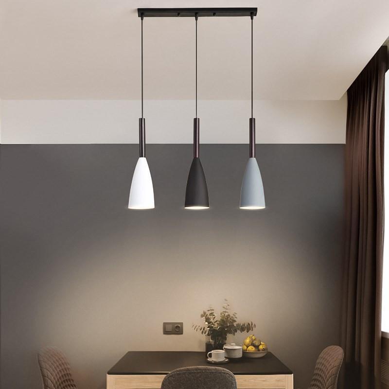 Lampes suspendues pour salle à manger, éclairage moderne avec 3 luminaires pendentif minimaliste nordique sur la Table des repas lampes suspendues pour la salle à manger E27