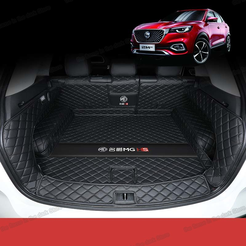 Lsrtw2017 Leather Car Trunk Mat Cargo Liner For Mg Hs 2018 2019 2020 5d Full Coverage