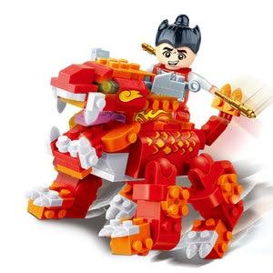Image 5 - BanBao 中国風のカンフー寺チャイナ中国のドラゴン大砲アーキテクチャレンガ教育ビルディングブロックのおもちゃモデル