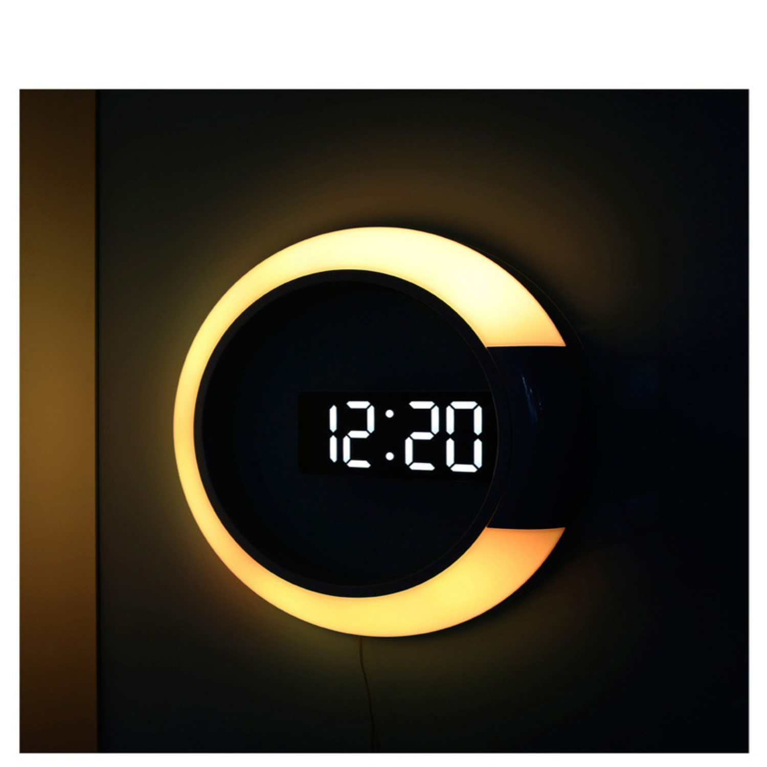 Nordic Digital Alarm Clocks Wall Hanging Watch Snooze Function Table Clock Calendar Thermometer Display Office Electronic Watch