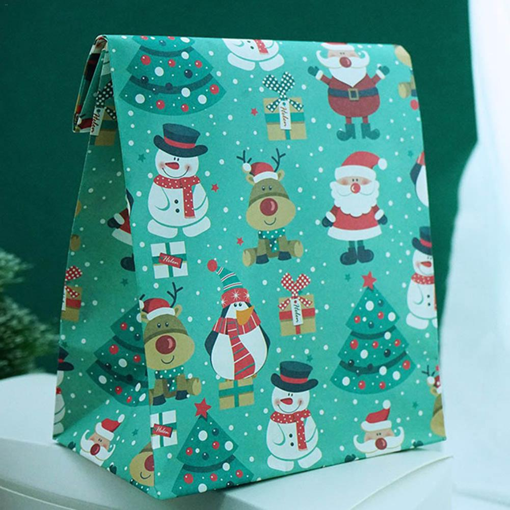 2020 Christmas Santa Snowman Bear Elk Penguin Gift Bag Puoch Christmas Candy Stand New Products