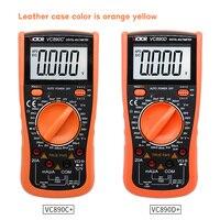 Victor vc890c + vc890d multímetro digital verdadeiro rms capacitor 2000 uf 20a ac dc tensão atual capacitância tester medidor luz de fundo