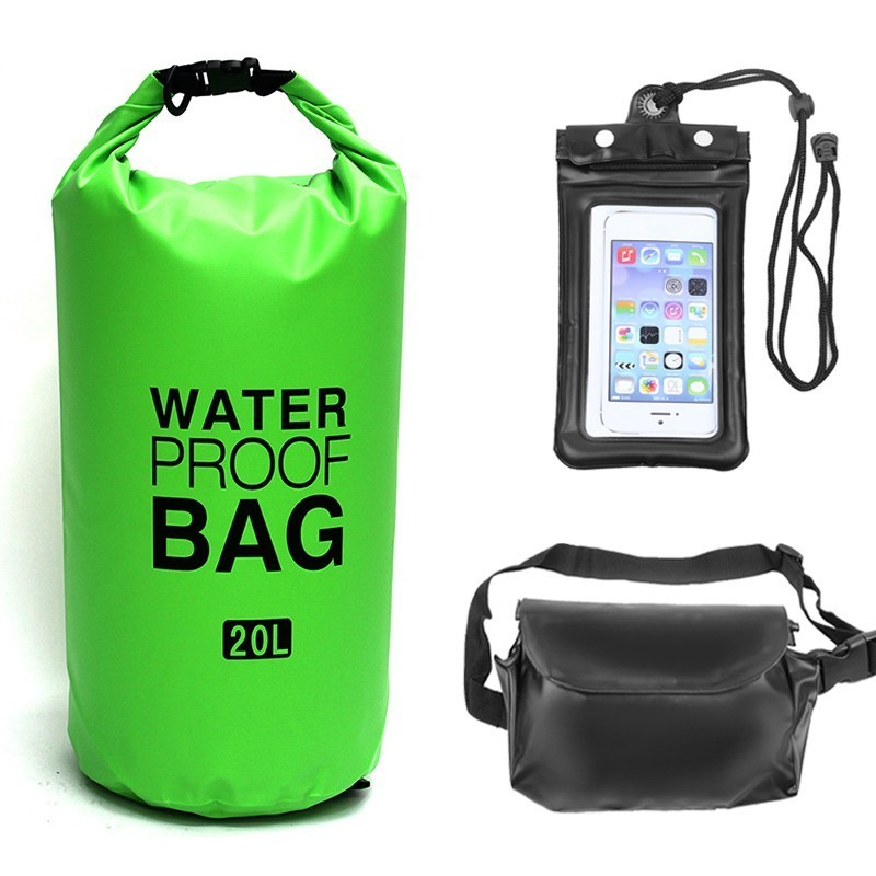 2L/5L/10L/15L/20L/30L Outdoor Waterproof Bag Dry Bag Phone Pouch Waist Bag Set For Swimming Drifting Rafting River Trekking Bags
