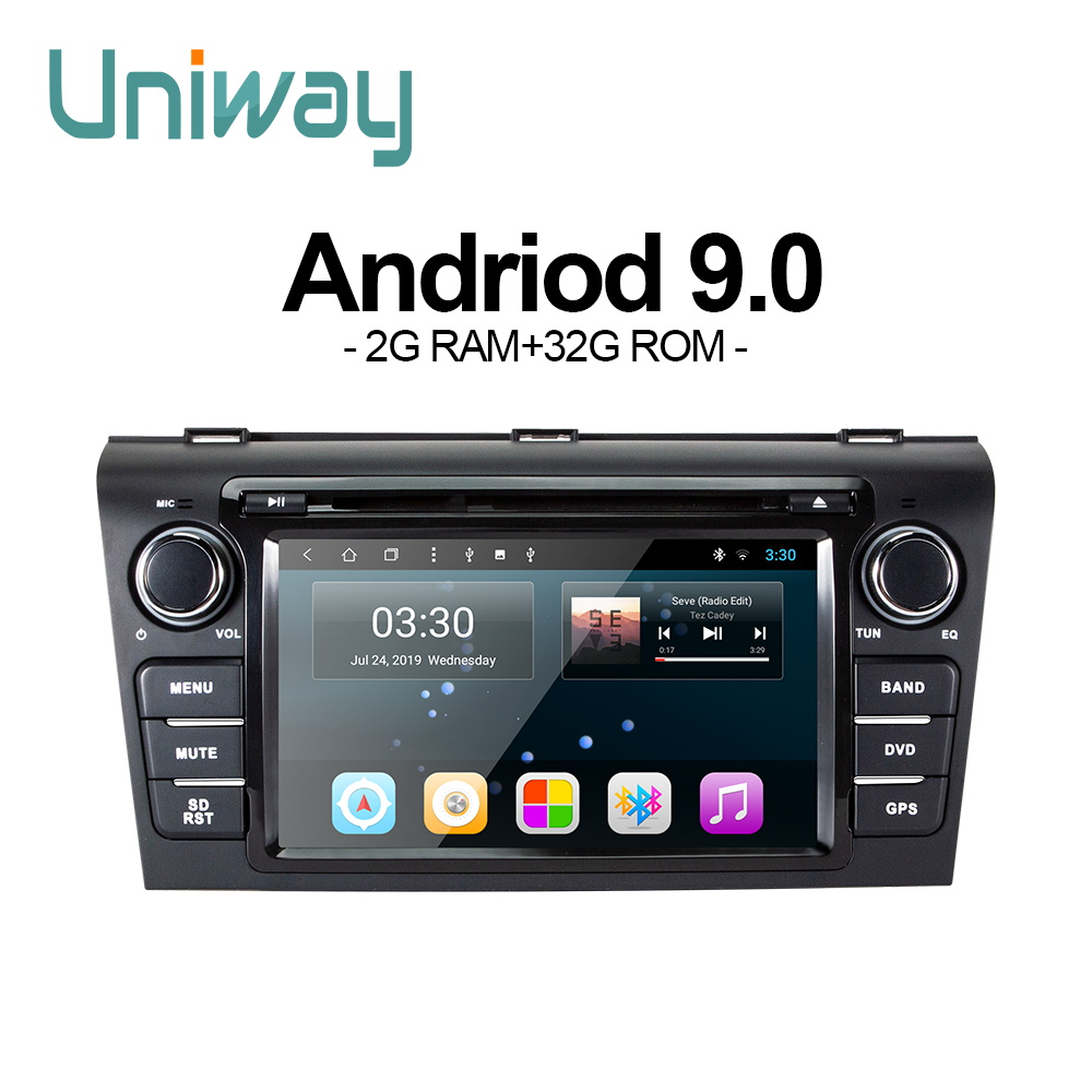 uniway LLM37090 Android 9.0car dvd for <font><b>Mazda</b></font> <font><b>3</b></font> 2004 2005 2006 2007 <font><b>2008</b></font> 2009car radio navigation image