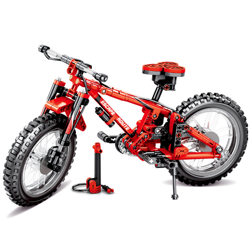 Toys For Children Double Transformer Educational Building Blocks Brick Mountain Cross Country Bicycle Assembling Model Kit I71 in Model Building Kits from Toys Hobbies