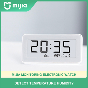 Mijia temperature and humidity monitoring electronic watch Bluetooth electronic household baby room indoor high-precision thermo image