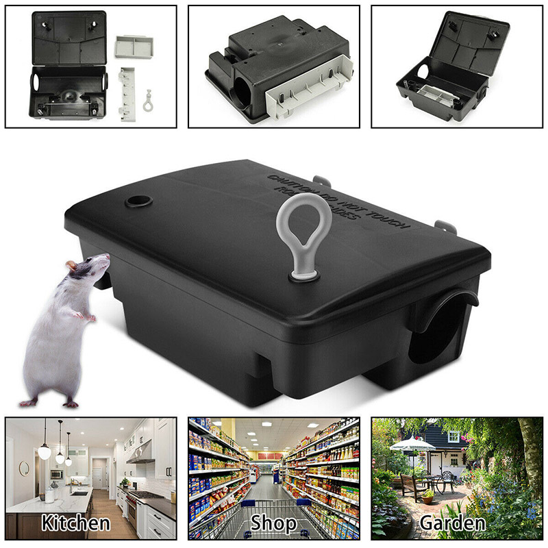 Professional Home Rat Mouse Rodent Bait Block Trap Station Box Case With Key Trappola Per Topi Past Na Krysy RT99