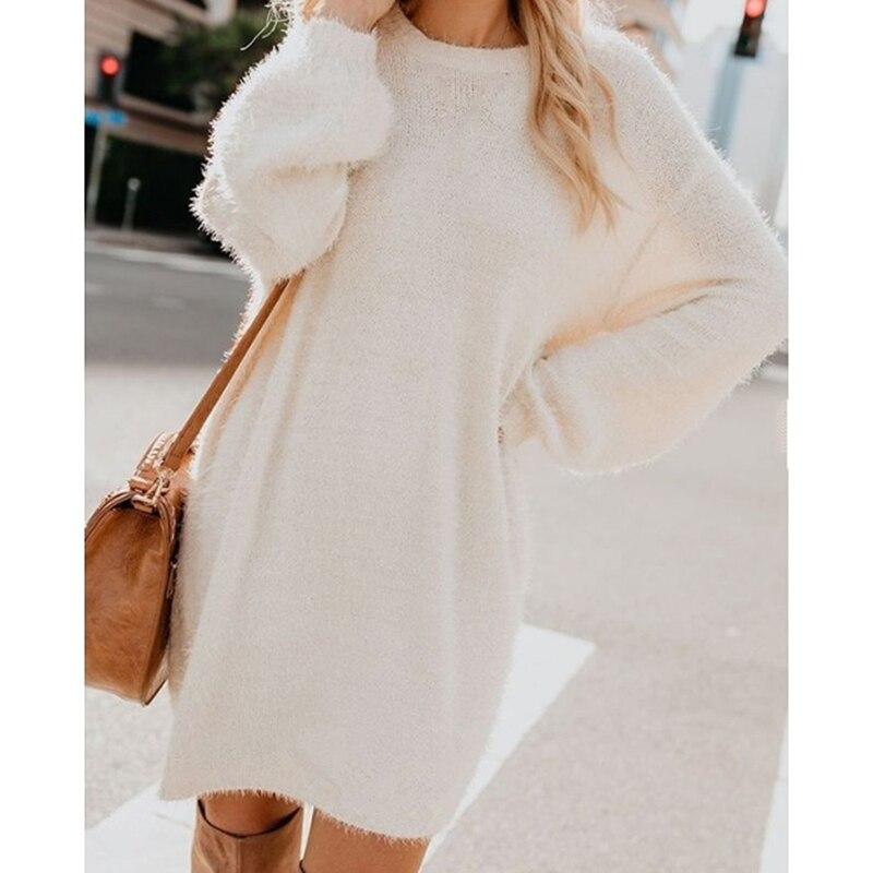 New Spring Turtleneck Solid Sweaters Dress Women Long Sleeve Slim Streetwear Pullovers Oversized Sweater Pull