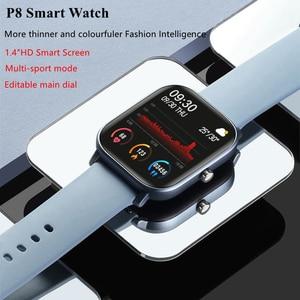 Image 3 - LYKRY 2020 Smart Watch P8 mężczyźni kobiety 1.4 calowy ekran w pełni dotykowy opaska monitorująca aktywność fizyczną pulsometr IP67 wodoodporna opaska sportowa GTS