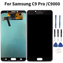 Süper Amoled samsung LCD C9 Pro C9000 dokunmatik LCD ekran Ekran samsung için dijitalleştirici montajı C9 Pro C9000