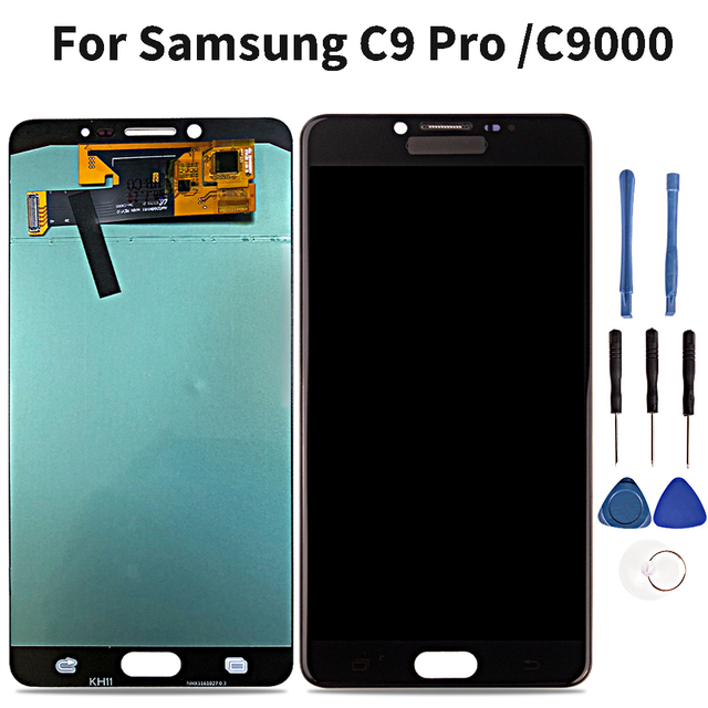 Super Amoled LCD For Samsung C9 Pro C9000 Lcd Display Touch Screen Digitizer Assembly For Samsung C9 Pro C9000