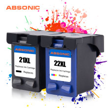 2 шт чернильные картриджи для hp 21 hp 21 hp 21XL 22XL с чернилами hp Deskjet F2180 F2280 F4180 F380 380 3910 F4100 F2100 F2200 F300 F4135 принтеры