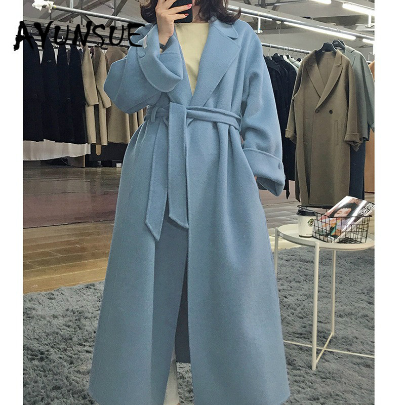 Coat Women clothes 2020 Korean Elegant Double-sided Wool Coat Women Ladies Coats Jacket Abrigos Mujer Invierno 2020 YR034 YY2027