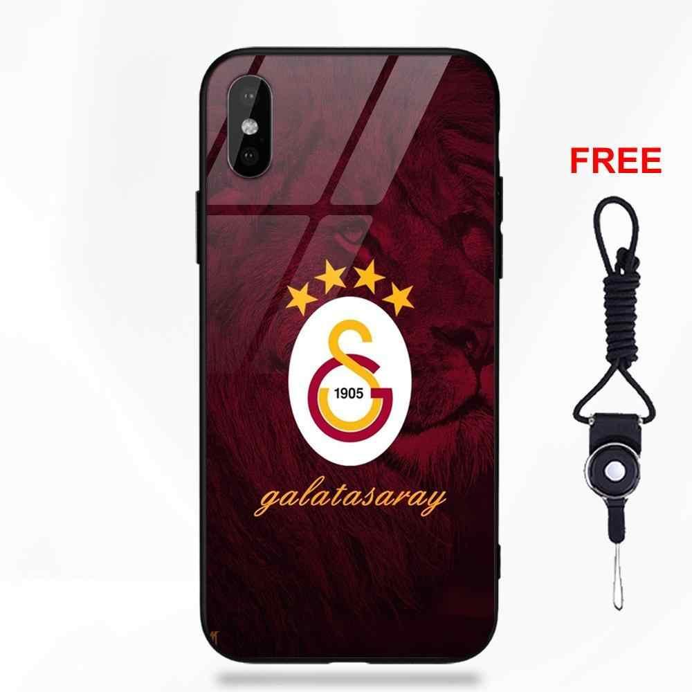 Galatasaray Sk Logo Gehard Glas Voor Huawei Honor 7X P20 Lite Mate 10 Pro Voor Galaxy S8 S9 Plus Redmi 5 opmerking 5A 6